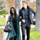 Vanessa Hudgens,Austin Butler strolled arm in arm to a holiday party in Los Angeles