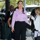 Salma Hayek Leaving An Office In Brooklyn