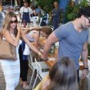 Sofia Vergara and her hunky new boyfriend Joe Manganiello enjoy lunch together at Mandolin Aegean Bistro in Miami, Florida on July 25, 2014