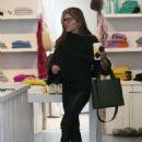 Selma Blair in Leather Pants Shopping in LA - 454 x 629