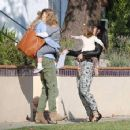 Jenna Dewan takes her daughter Everly to a playdate with Elizabeth Berkley's son Sky at a house in Beverly Hills, California on January 8, 2015