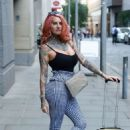 Jemma Lucy – Leaving House Of Evelyn Hair and Beauty Salon in Manchester - 454 x 662