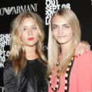 Jazzy de Lisser and Cara Delevingne attend Bally's Fashion's Night Out celebration at on September 8, 2010 in London, England
