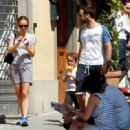 Natalie Portman Out For Lunch With Her Family In Florence