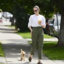 Willa Holland with her dog in Los Angeles - 454 x 490