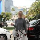 Eva Herzigova Arriving At Nice Airport
