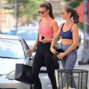 Lorena Rae in Tights and Sports Bra out in New York - 454 x 616