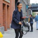 Adriana Lima – Leaving a photoshoot in New York