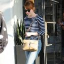 Actress Emma Stone is seen leaving the Meche Salon in West Hollywood, California on June 8, 2016 - 387 x 600