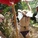 Selma Blair in Bikini at the pool in Miami