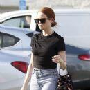 Madelaine Petsch – carries a Prada purse while shopping in LA - 454 x 590