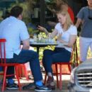 Deborah Ann Woll out for lunch in Hollywood - 454 x 303