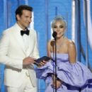 Bradley Cooper and Lady Gaga At The 76th Annual Golden Globe Awards - Show (2019) - 454 x 303