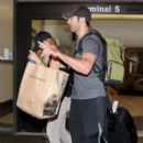 Brittany Snow and Tyler Hoechlin seen at LAX