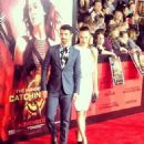 Joe Jonas and Blanda Eggenschwiler - Catching Fire Los Angeles Premiere (November 18)