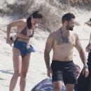 Cara Santana in Bikini at a beach in Formentera