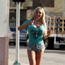 Mary Carey in tiny shorts out shopping in Studio City - 454 x 303