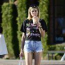 Jessica Hart in Denim Shorts out in LA - 454 x 555