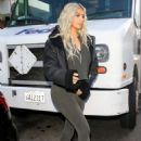 Kim Kardashian in Tights – Out in Beverly Hills