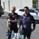 Sophie Turner and Joe Jonas – Go to Petco with their dog in Studio City