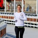 Claire Danes – Out for morning jog in NYC