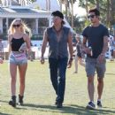 Richie Sambora and Ava Sambora at Day 3 of first weekend of The Coachella Valley Music and Arts Festival in Coachella, California on April 11, 2015