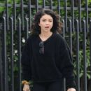 Sarah Hyland – Filming 'The Wedding Year' in Hollywood - 454 x 596