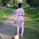 Yazmin Oukhellou – Taking her dogs for a walk in Essex