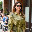Lily Aldridge in Green Outfit – Out in New York City - 454 x 655