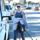 Alessandra Torresani – Walking her dogs in Los Angeles - 454 x 630