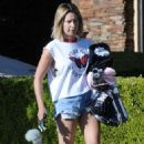 Ashley Tisdale in Denim Shorts – Out in Los Angeles - 454 x 721