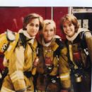 Alexandra Paul, Alexandra Hedison and Christine Elise in L.A. Firefighters (1996)