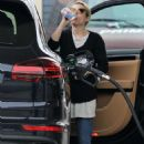 Emma Roberts at a gas station in LA