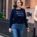 Rachel Brosnahan – 'The Marvelous Mrs. Maisel' Filming Rehearsals in Chelsea, New York - 454 x 769