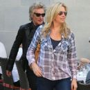 Rod Stewart and Penny Lancaster spotted out for lunch at the 208 Rodeo Restaurant in Beverly Hills, California on January 13, 2015 - 452 x 594
