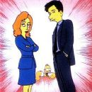 Gillian Anderson and David Duchovny - The Simpsons - 250 x 347