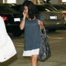 Salma Hayek Catches A Movie With Her Friends 06-10-08