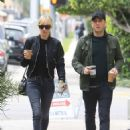 Kimberly Stewart and Jesse Shapira – Grab Coffee in Beverly Hills