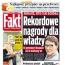 Malgorzata Kozuchowska - Fakt Magazine Cover [Poland] (27 July 2015)