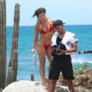Amanda Cerny shoots a sexy music video for DJ Chuckie directed by Dirty Dutch Mario Gonsalvez, in Oranjestad Aruba on September 10, 2014 - 454 x 405