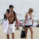 Haylie Duff And Nick Zano At Zuma Beach In Malibu - 05/09/09