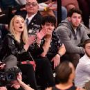 Sophie Turner, Joe and Nick Jonas – Phoenix Suns v New York Knicks Game in New York City