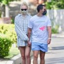 Sophie Turner and Joe Jonas – Out for a stroll in Encino