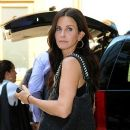 Courteney Cox checks into her hotel in Soho