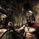 "Captain (VINCENT REGAN), Leonidas (GERARD BUTLER) and the Spartans stand ready to halt the advance of the Persian army in Warner Bros. Pictures', Legendary Pictures' and Virtual Studios' action drama ""300,"" distributed by War - 454 x 239"