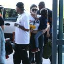 Kylie Jenner and Tyga spotted departing on a flight in Costa Rica on January 30, 2017 - 448 x 600