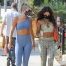 Vanessa Hudgens – In a hippie workout ensemble heading to the gym in West Hollywood