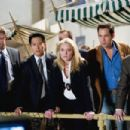 "L-r: TREAT WILLIAMS, VIC CHAO, ELISABETH ROHM, ENRIQUE MURCIANO and BRIAN SHORTALL in Castle Rock Entertainment's and Village Roadshow Pictures' comedy ""Miss Congeniality 2: Armed and Fabulous,"" starring Sandra Bullock and distribu"