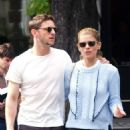 Kate Mara in Mini skirt with Jamie Bell out in Paris - 454 x 978