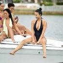 Draya Michele in Black Swimsuiti in Newport Beach - 454 x 452